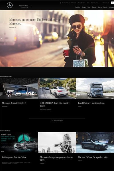 Siti Web WordPress Esempi Mercede Benz