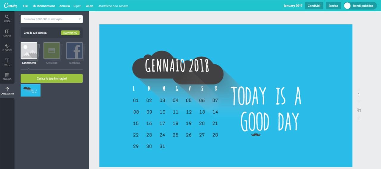 Programma per creare calendari personalizzati