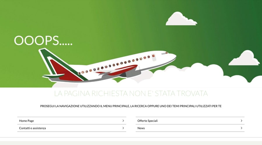 Pagina 404 Alitalia